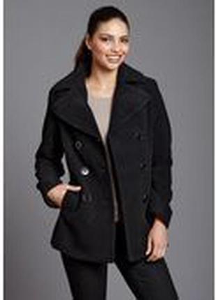 Короткое черное пальто kenneth cole