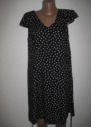 Черное платье в горошек f&f размер16