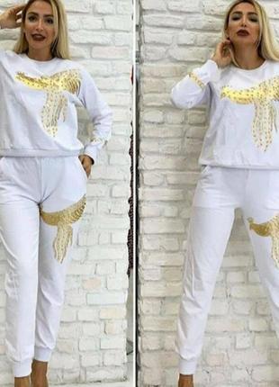 Стильный костюм,модный принт, стамбул, размер ххл.