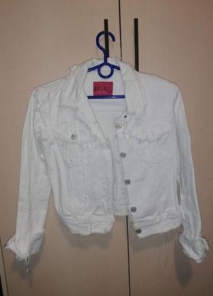 Джинсовий білий піджак