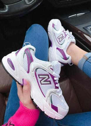 New balance 530 white violet8 фото