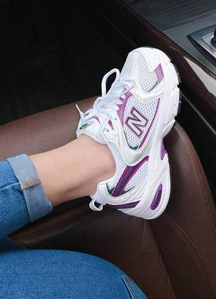 New balance 530 white violet5 фото
