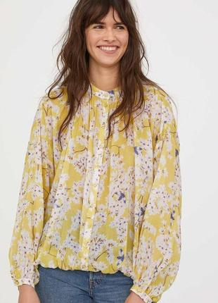 Крутая стильная блуза h&m из лиоцела