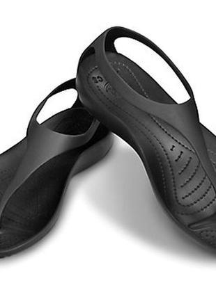 Crocs sexi flip sandal black черные секси-флип w7 оригинал.