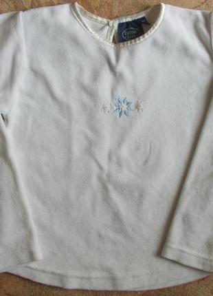 Велюровый реглан-блузка на девочку 5-6 лет, рост 116-122 см