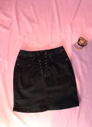 Юбка джинсовая misguided размер xs