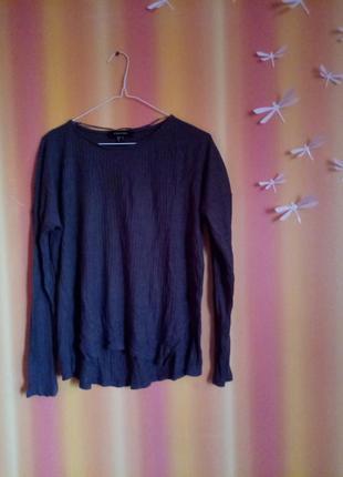 Серая кофта,  серый свитер в рубчик