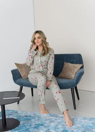 Пижама цветочная штапель
