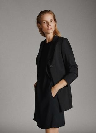Чёрное платье мини платье трапеция massimo dutti
