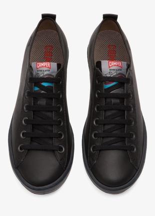 Кожаные туфли кеды camper