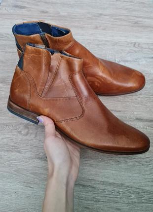San marina черевики чоловічі шкіра челси туфли кожа высокие