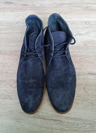 Туфлі броги високі черевики замш туфли ботинки мужские замшевые minelli