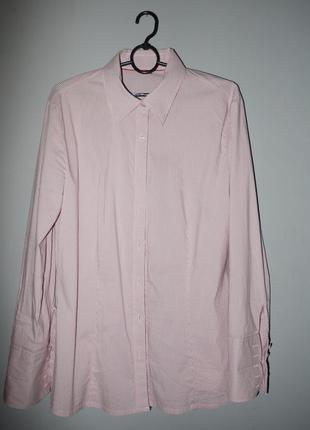 Рубашка классическая s.oliver хлопок в полоску розово белая