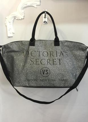Стильная дорожная сумка с блёстками victoria's secret