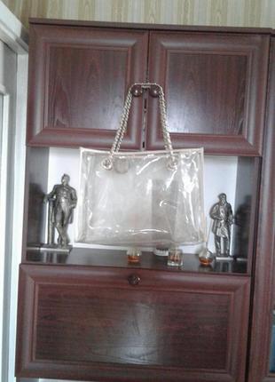 Большая прозрачная силиконовая сумка шоппер