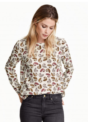 Оригінальна блуза з ящірками h&m розмір s-m.