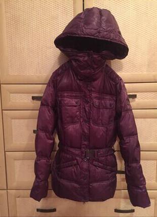 Куртка фирменная пуховик 80%пух 20%перо aviva