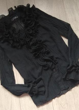 Нарядная черная блуза