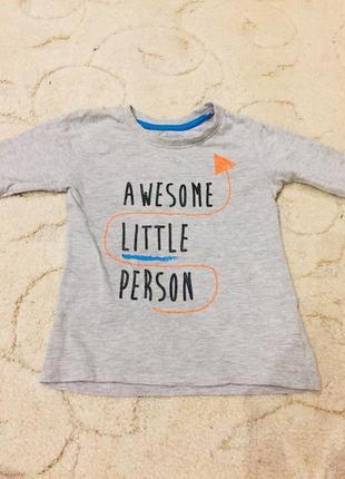 Кофта кофточка реглан футболка свитшот на мальчика 2 3 4 5 года