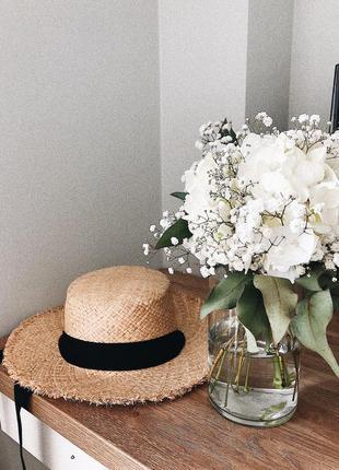 Капелюх солом'яний, шляпа  соломенная , канотье