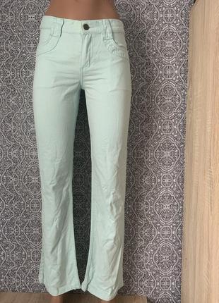 Шикарные мятного цвета брюки mexx