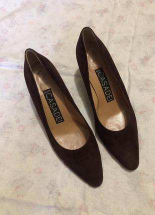 Кожаные туфли винтаж casadei оригинал