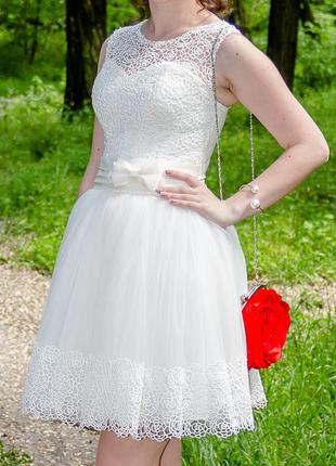 Платье вечернее /выпускное /свадебное короткое
