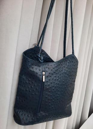 Pelleteria mario кожаная сумка-рюкзак