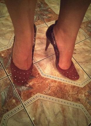 Брендовые замшевые туфли dumond в 41 размере