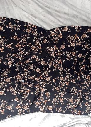 Платье reserved, платье с принтом, платье в цветочек