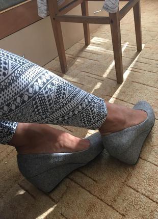 Новые туфли на танкетке/платформе, лодочки