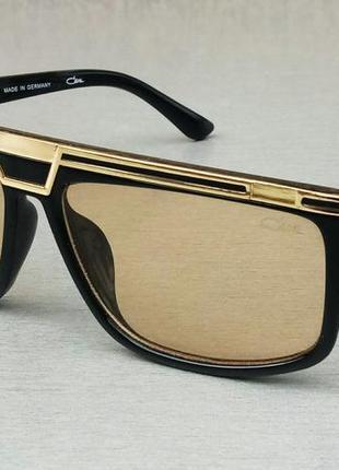 Cazal очки женские солнцезащитные линзы желто золотистые