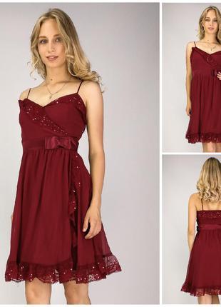 Платье бордовое огромные скидки на https://hand-look.com