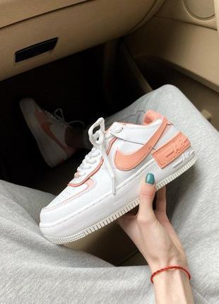 Кроссовки nike air force 1 orange/white код:n0048