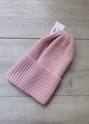 Скидка🔥вязанная шапка в рубчик 52-56 см все цвета