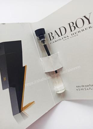 Очень стойкий парфюм мини духи carolina herrera bad boy