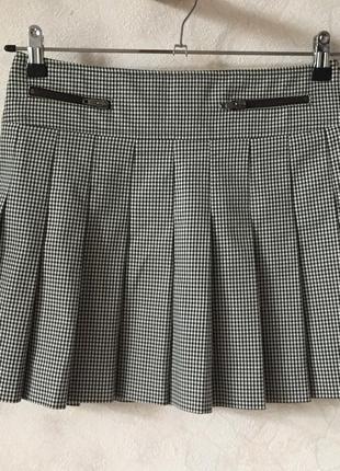 Клетчатая юбка в складке marella