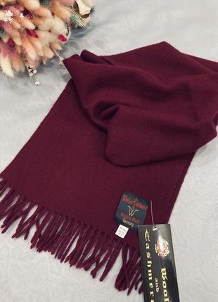 Шерсть 100% шарф  мужской wool&cashmire