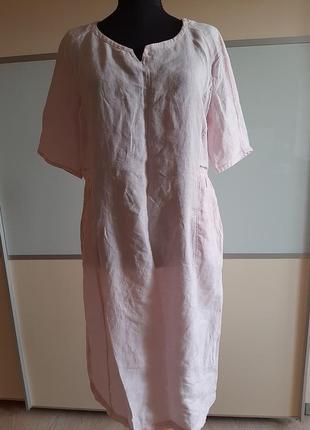 Льняное итальянское платье в стиле бохо,  uk14 eur42