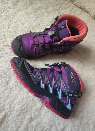 Термо ботинки детские непромокаемые, salomon