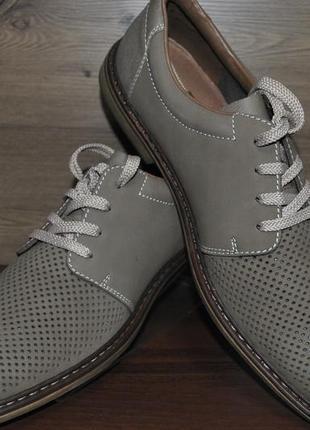 Туфли мужские из натурального нубука rieker 13408-64. оригинал!