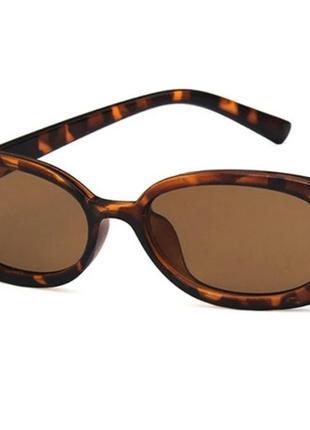 Солнцезащитные очки  овальные ретро винтаж