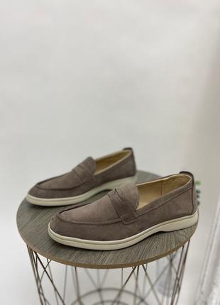 Мужские замшевые туфли лоферы