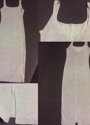 Платье в рубчик bershka