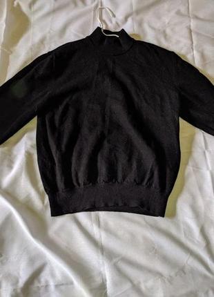 Черный свитер pierre cardin