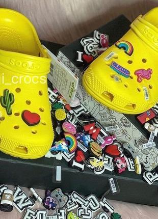 Crocs classic clog yellow крокс классические клоги 36,37,38,39