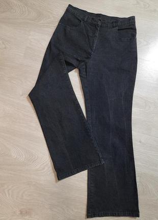 Джинсы штаны брюки высокая посадка чёрные