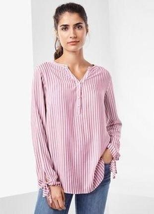 Тонкая стильная блуза-туника из вискозы tchibo германия