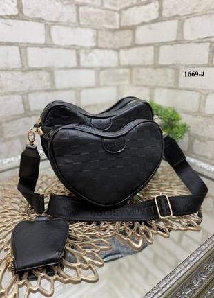 Комплект сумок сердце, сумка 3в1