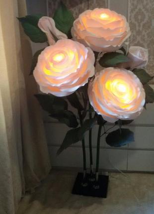 Светильник торшер куст роз из изолона ручной работы